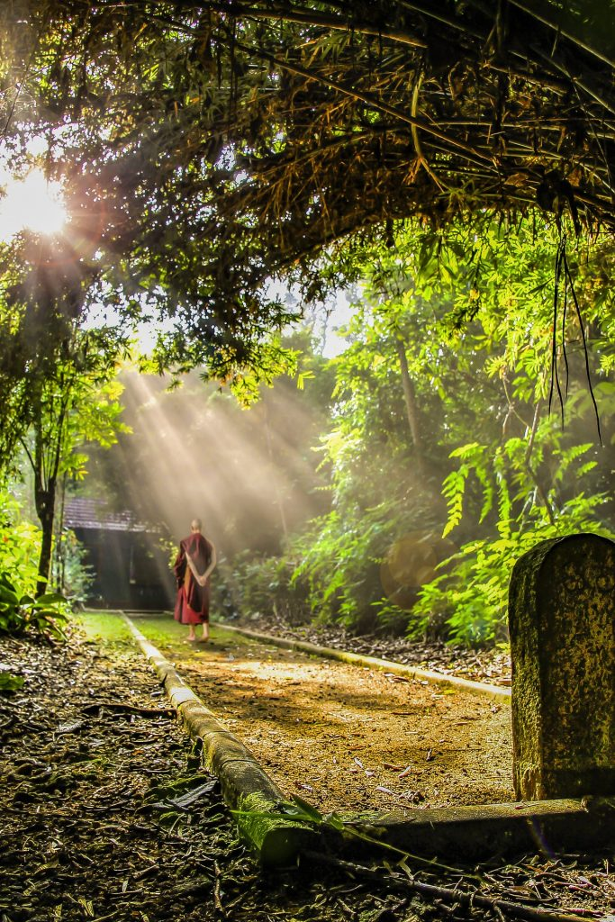 Buddhist on his soul's path